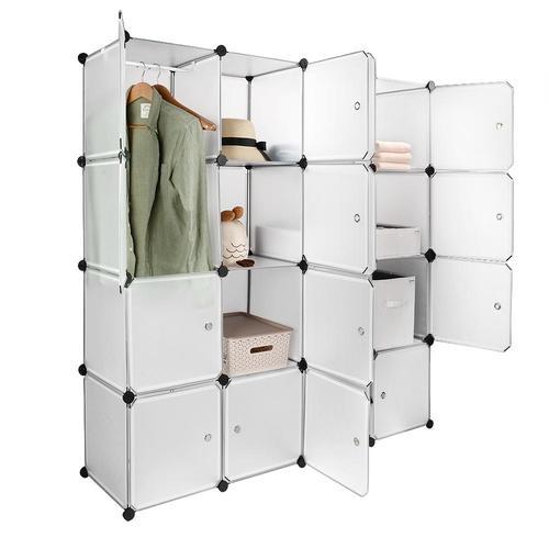 SortWise 16 Cube Closet Organizer Wardrobe Plastic Storage Cabinet - DIY