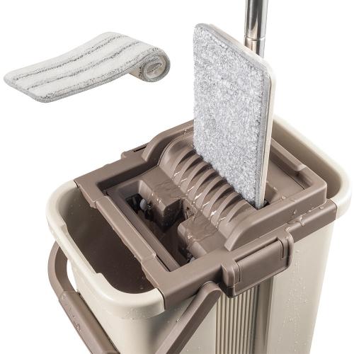 Kit de système de vadrouille et de seau plat pour salle de bain cuisine salle de lavage salon