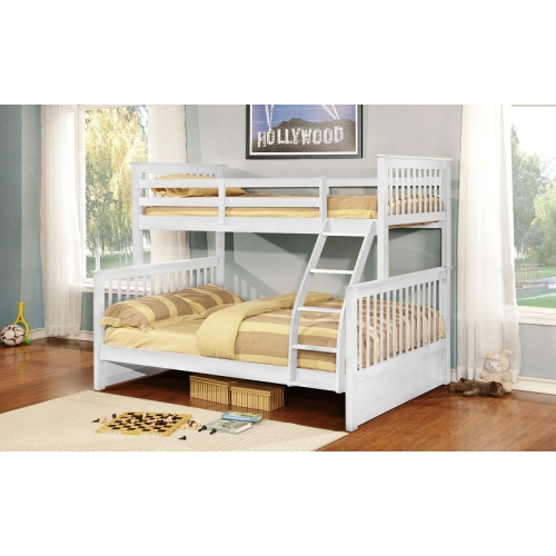 Furnituremattressdirect Twin Double Detachable Solid Wood Bunk Bed