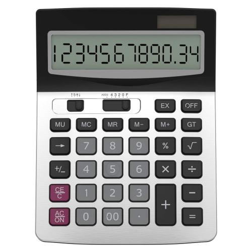 Helect Business Standard Function Desktop Calculator - Silver