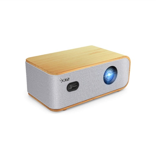 PIQS Q1 Home Theater HD LED Projector w/ Android OS, 4D Auto Keystone, Side Projection, 4K Support, WiFi, Bluetooth, Speakers
