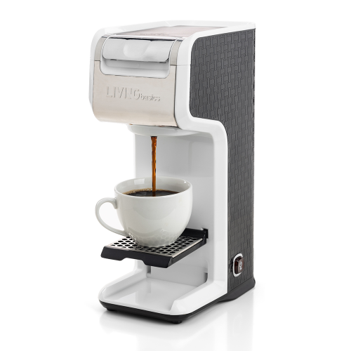 2 In 1 Single Serve Coffee Maker Brewer Ground Capsule Slim
