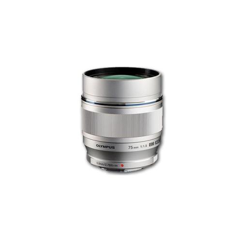 Olympus 75mm f1.8 M.Zuiko Digital Lens Silver