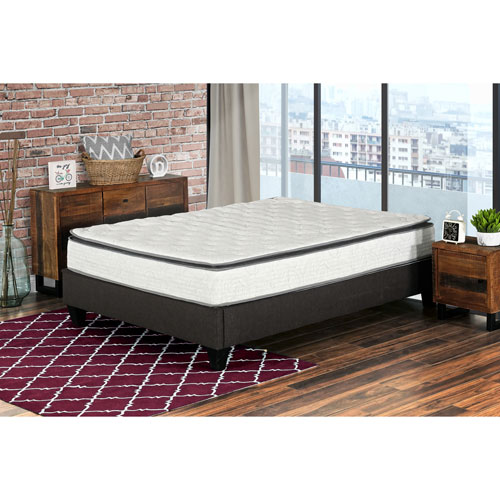 """My Style Collection Berri 10"""" Pocket Coil Pillow Top Inner Spring Mattress In A Box - Queen"""