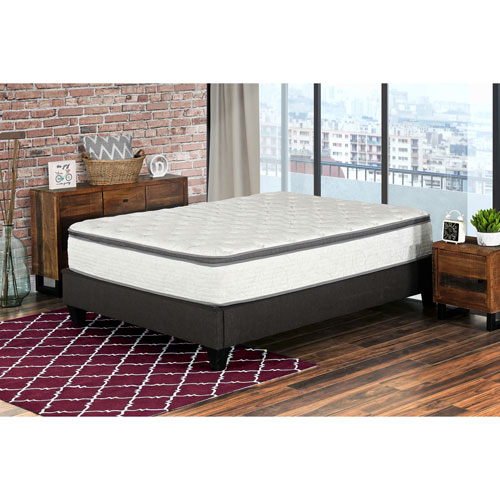 """My Style Collection Berri 12"""" Pocket Coil Euro Top Inner Spring Mattress In A Box - Double"""