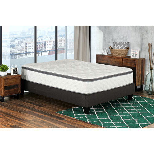 """My Style Collection Berri 12"""" Pocket Coil Euro Top Inner Spring Mattress In A Box - Queen"""