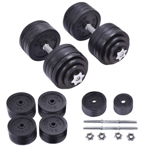 b2c3ba5dd44 200LBS Weight Dumbbell Set Adjustable Cap Gym Barbell Plates Body Workout -  Online Only