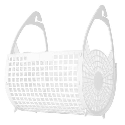 LIVINGbasics™ Plastic Foldable Peg Basket 20x24x15cm White 1Pc