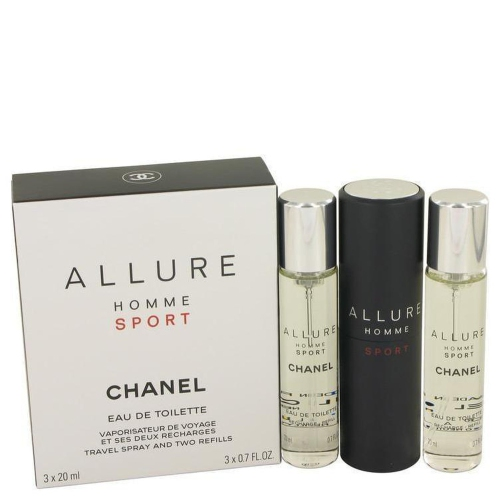 f41261976355b Allure Homme Sport by Chanel Mini EDT Spray + 2 Refills 3 x .7 oz - Online  Only