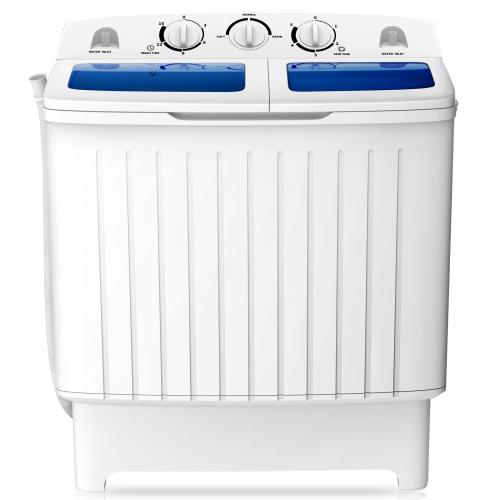 Goplus Portable Mini Compact Twin Tub Washing Machine Washer / Spin Dryer - 17.6lb Capacity