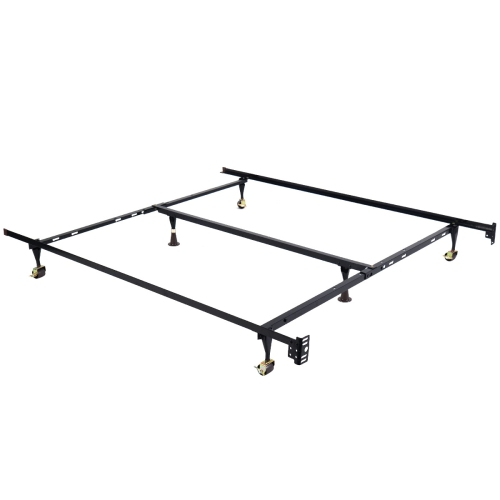 Costway Metal Bed Frame Adjustable Queen Full Twin Size W Center