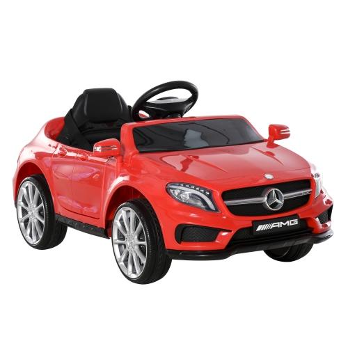 Qaba 6V Kids Licensed Mercedes Benz Ride On Car Toy Red