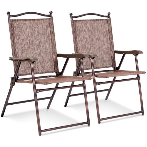Lot de 2 chaises de camping pliables Costway