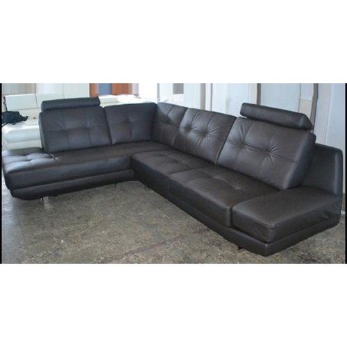 Leon Contemporary Leather Sectional Sofa With Left Facing Chaise