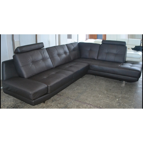 Leather Sofas Canada: León Contemporary Leather Sectional Sofa With Right-Facing