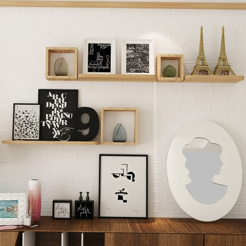 Set Of 6 Floating Wall Mounted Shelves Display Storage Home Decor Best Buy Canada