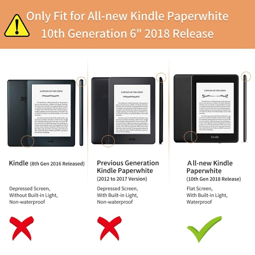 Infiland Kindle Paperwhite 2018 Case, Multiple Angle Stand Case Cover  Compatible with All-New Kindle Paperwhite 10th Generatio