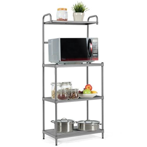 4 Tier Baker S Rack Microwave Oven Stand Shelves Kitchen Storage