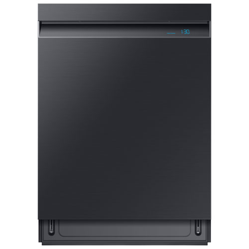"""Samsung 24"""" 39dB Built-In Dishwasher with Stainless Steel Tub - Black Stainless Steel"""