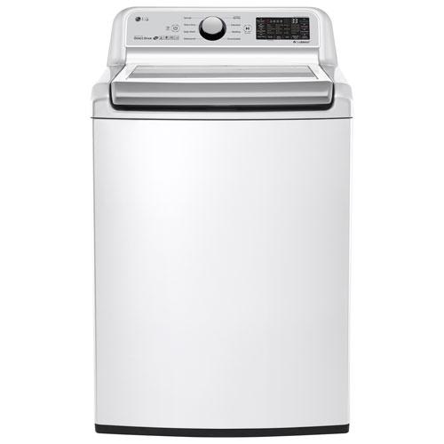 LG 5.8 Cu. Ft. High Efficiency TurboWash Top Load Washer - White