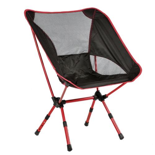 Adjustable Aluminum Folding Camping Chair Seat Fishing Hiking Beach Bag