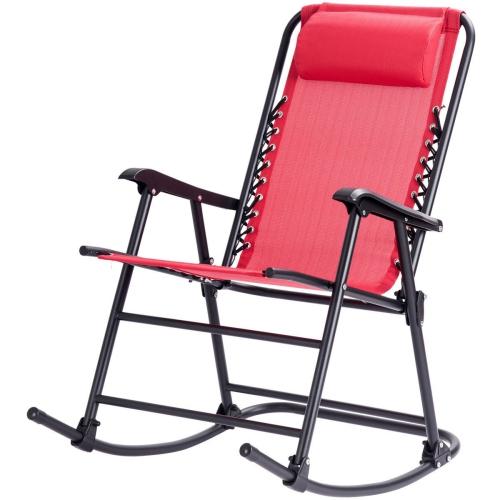 Strange Folding Zero Gravity Rocking Chair Rocker Porch Outdoor Furniture Headrest Creativecarmelina Interior Chair Design Creativecarmelinacom