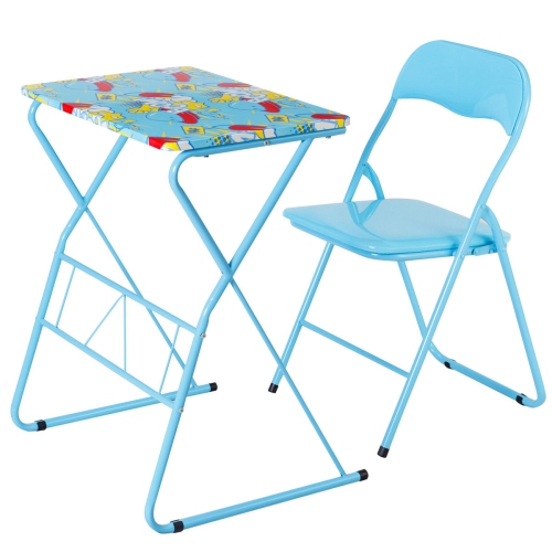 Cool Kids Folding Table Chair Set Study Writing Desk Student Children Home School New Theyellowbook Wood Chair Design Ideas Theyellowbookinfo