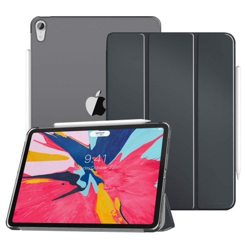 """Miiu Smart Case Fit for iPad Pro 11"""" 2018 A2013 Black with Back Protector Side Opening for Pencil's Magnetic Attachment"""
