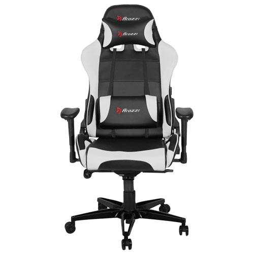 Surprising Arozzi Verona Xl Plus Ergonomic Faux Leather Pedestal Gaming Chair White Inzonedesignstudio Interior Chair Design Inzonedesignstudiocom