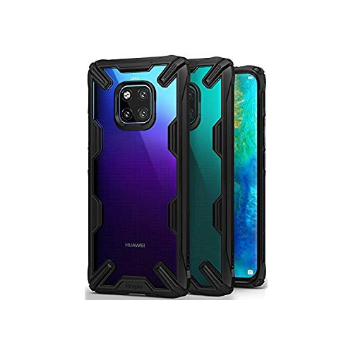 competitive price a7520 781b3 Ringke [Fusion-X] Compatible with Huawei Mate 20 Pro Case, Ergonomic  Transparent [Military Drop Tested Defense] Hard PC Back T
