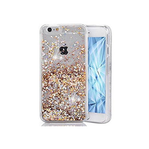 timeless design a43df bb25b iPhone 8 Plus Case,iPhone 7 Plus Case,LEECOCO Creative 3D Floating  Quicksand Shiny Bling Glitter Flowing Liquid Clear Hard PC