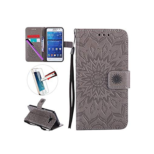 half off 9cd18 e461a Samsung G530 Case, ISADENSER Leather Folio Flip Cover Case With Kickstand  Card Slot for Samsung Galaxy Grand Prime G530 + 1 Pc