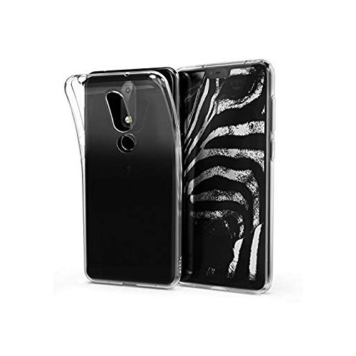 new styles 766c2 e32ce kwmobile Crystal Case for Nokia 6.1 Plus (2018) X6 - Soft Flexible TPU  Silicone Protective Cover - Transparent