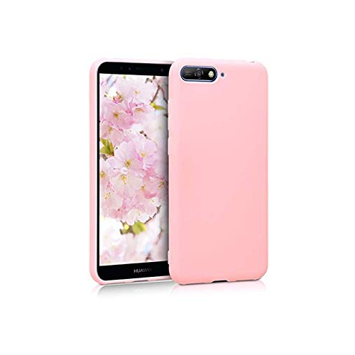 sale retailer 95dbb b571e kwmobile TPU Silicone Case for Huawei Y6 (2018) - Soft Flexible Shock  Absorbent Protective Phone Cover - Rose Gold Matte