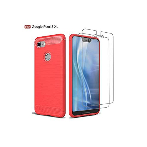 buy popular 08916 e15ae Avesfer Case for Google Pixel 3 XL Case with Pixel 3 XL Screen Protector  Tempered Glass Flexible Soft TPU Cover [Anti-Slip][Sh