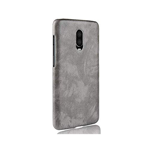 newest 7fa6f 7c882 GOGODOG Oneplus 6T Case Full Cover Ultra Thin Matte Anti Slip Scratch  Resistant Leather Back Shell One Plus 6T (Gray)