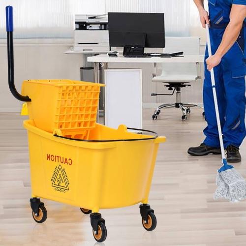 35 Quart Side Press Wringer Mop Bucket Mop Bucket Wringer Combo