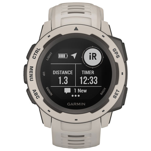 Garmin Instinct 45mm GPS Watch with Heart Rate Monitor - Tundra