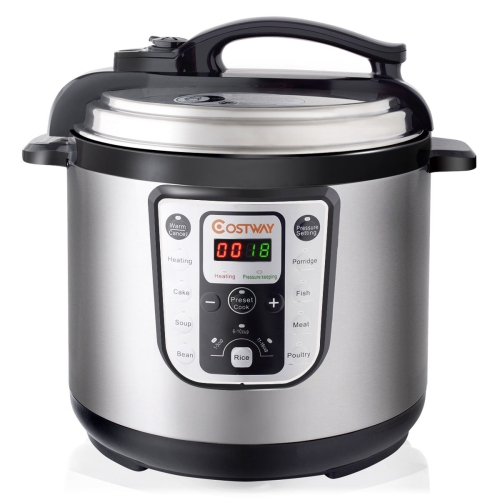 1250W 8 Quart Electric Pressure Cooker Programmable Multi Use Stainless Steel