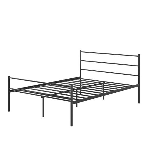 4de42b4b8949 Black Full Size Metal Bed Frame Platform Headboard 10 Legs Furniture Bedroom  NEW Beds & Bed Frames