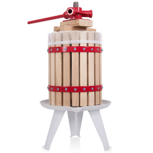 1.6 Gallon Fruit Wine Press Cider Apple Grape Crusher Juice Maker Tool Wood