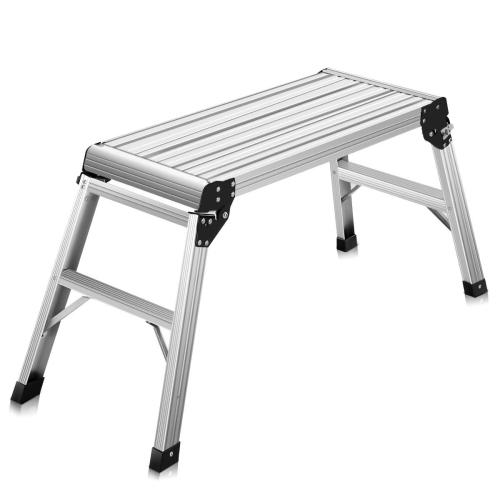 Astonishing Hd En131 Aluminum Platform Drywall Step Up Folding Work Bench Stool Ladder Machost Co Dining Chair Design Ideas Machostcouk