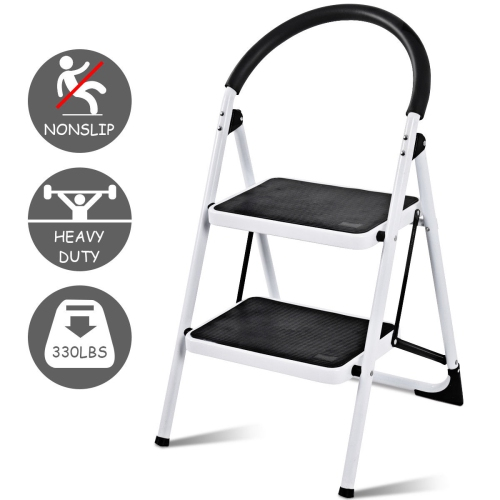 Marvelous Costway 2 Step Ladder Folding Stool Heavy Duty Industrial Lightweight 330Lbs Pdpeps Interior Chair Design Pdpepsorg