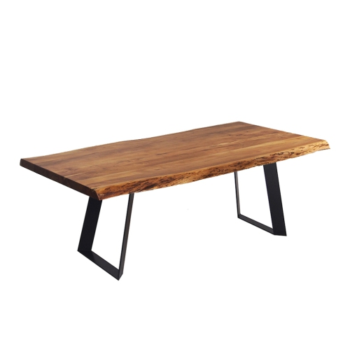 Acacia Live Edge 72 Dining Table With Black Victor Legs Best