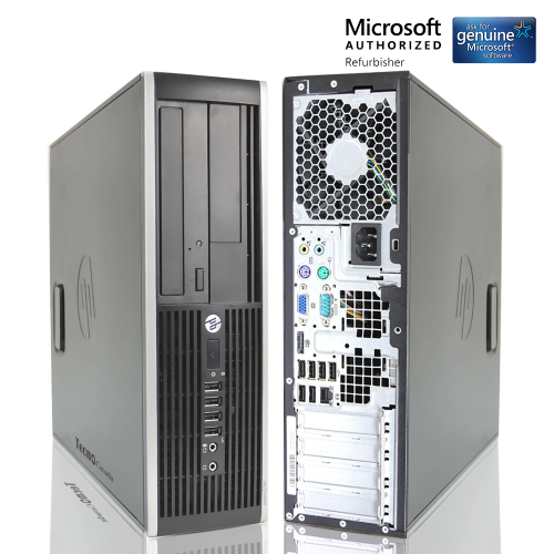 HP Compaq 6200 SFF Desktop PC Computer Intel Core i3 2100 8GB RAM 128GB SSD  DVD Windows 10 Home WiFI-Refurbished