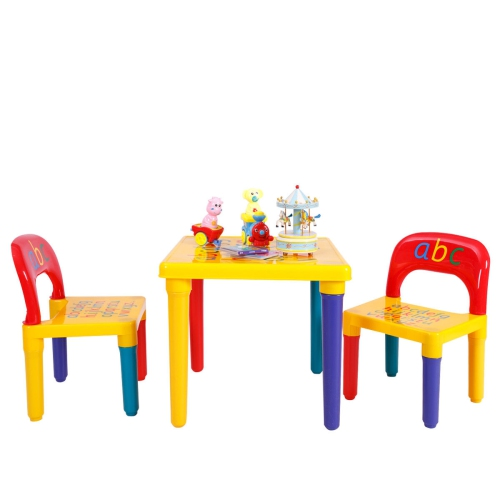 Remarkable Letter Kids Tablechairs Play Set Toddler Child Toy Home Activity Fun Furniture Theyellowbook Wood Chair Design Ideas Theyellowbookinfo