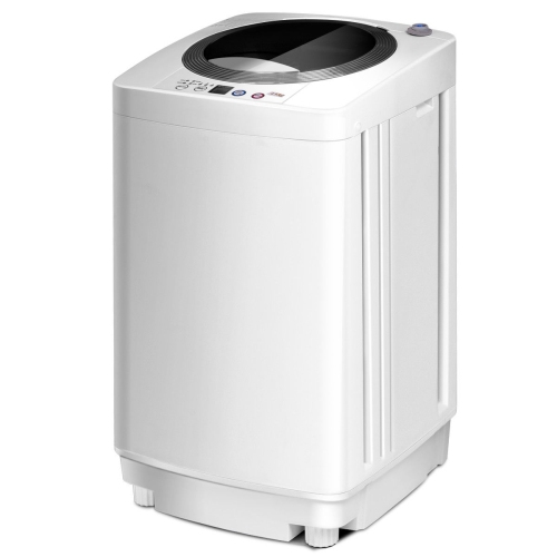 Portable Compact Full-Automatic Laundry Wash Machine Washer Spinner W/ Drain Pump