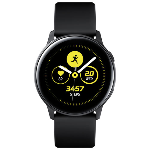 51437c1b6 Samsung Galaxy Watch Active 40mm Smartwatch with Heart Rate Monitor - Black  | Best Buy Canada