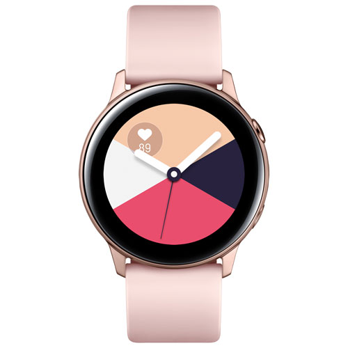 Samsung Galaxy Watch Active 40mm Smartwatch with Heart Rate Monitor - Rose Gold