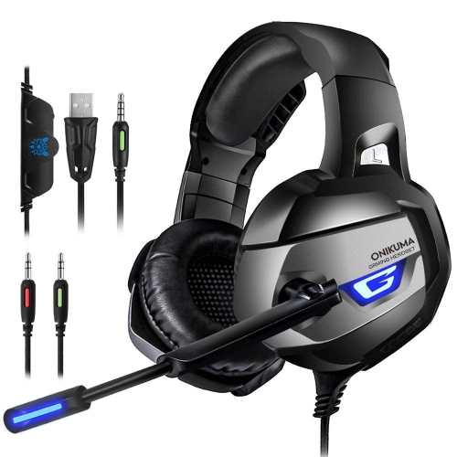 a9f5ef7fca8 Gaming Headset with Mic for PS4 Xbox One PC, 3.5mm AUX, Stereo Bass Sound,  Noise- Isolating, LED Light and Volume Control : Gaming Headsets - Best Buy  ...